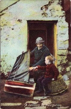 Nen amb vaixell de joguina, pescador. Primera meitat s.XX. Autor desconegut . MMB (Col. M. Mayolas) Painting, Angler Fish, Author, Painting Art, Paintings, Painted Canvas, Drawings