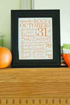 You might remember this fun Halloween word art printable I created last year.    I still have a lot of people e-mailing me for it. To make t...