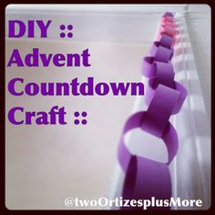two Os + more: DIY: Advent Countdown Craft