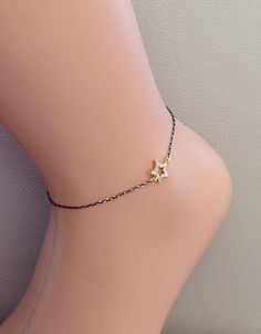 A personal favorite from my Etsy shop https://www.etsy.com/listing/231208743/new-star-charm-ankle-braceletgold-charm