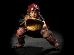 Softball Catcher .... this is the position our girl plays :)