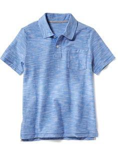 Slub-Knit Polo for Boys Product Image