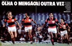 'Olha o Mengão aí outra vez' - 1983 - pela Taça Rio, Flamengo 3x0 Vasco e festa rubro-negra no Maracanã (Placar).