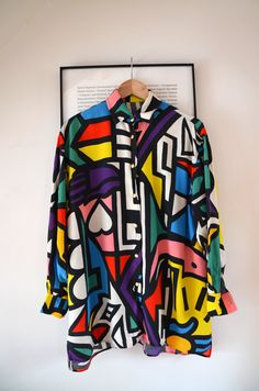 Crazy 90s Graphic MOSCHINO Oversize Long by LaMexicaineVintage