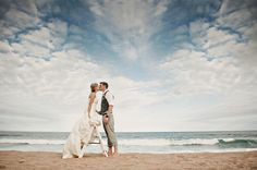 Clouds at beach wedding - perfect :)