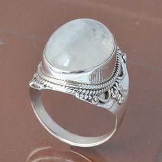 MOONSTONE 925 SOLID STERLING SILVER RING 7.62g DJR6787 #Handmade #Ring