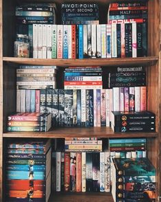 These shelves are bowing from all the books!