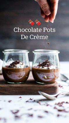 Mini Desserts, Chocolate Desserts, Just Desserts, Delicious Desserts, Dessert Recipes, World's Best Food, Good Food, Yummy Food, Bean Recipes