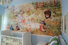 Beatrix Potter - I'd love this for Henry's room. We've already got a few Peter Rabbit decorations.