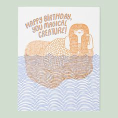 A Birthday Card For Mermaid Lovers Cards Wishes Happy
