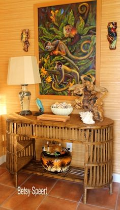 Tropical-chic Design...vignette by Betsy Speert