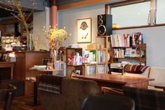 Book Cafe, Restaurant, House Rooms, Liquor Cabinet, Corner Desk, Storage, Interior, Cafe Idea, Furniture