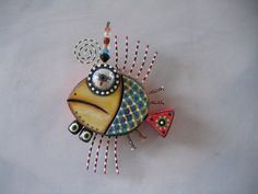 Twisted Fish 19, Original Found Object Sculpture, Wall Art, Wood Carving, by Fig Jam Studio