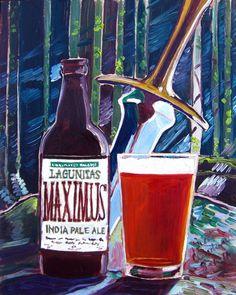 Beer Painting of Maximus IPA by Lagunitas Brewing Co. Year of Beer Paintings - Day 213.