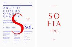 """Les Graphiquants - Spécimen typographique """"Sofia Reg."""" (2011)."""