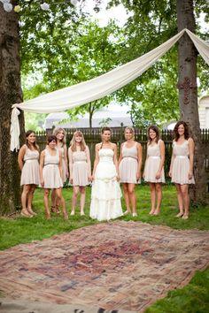 Rustic Chic Bridesmaids