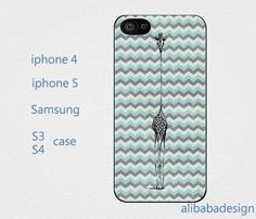 Chevron and giraffes iphone 4 case iphone 4s case by AlibabaDesign, $6.88