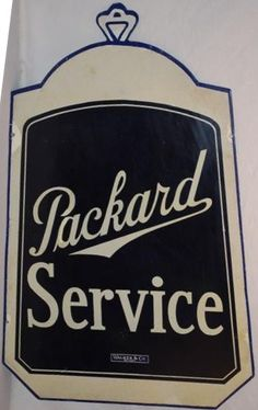 Service die-cut sign for Packard shaped as a automobile front grill.