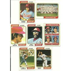 1974 Vintage Topps WHITE SOX team set of 28 cards GOSSAGE Allen Melton 3 RCs! Listing in the 1970-1979,Sets,MLB,Baseball,Sports Cards,Sport Memorabilia & Cards Category on eBid United States | 147610070