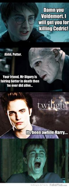Love this! damn you voldemort. BUT WORMTAIL KILLED CEDRIC!!!!!!