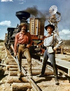 """George Peppard y Henry Fonda en """"La Conquista del Oeste"""" (How The West Was Won), 1962 George Peppard, Henry Fonda, Cinema, Tv Westerns, Great Western, Western Movies, Le Far West, Great Movies, Movie Stars"""