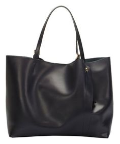 This Navy Blue Buckle-Handle Leather Tote is perfect! #zulilyfinds