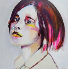 "Saatchi Art Artist Patricia Derks; Painting, ""Milou(sold)"" #art"