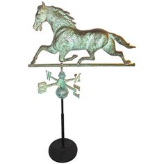19th c. Copper and Iron Running Horse Weathervane | From a unique collection of antique and modern weathervanes at http://www.1stdibs.com/furniture/folk-art/weathervanes/