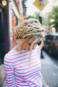 {  via  }   Braid crush. Pretty and perfectly messy too. Swooning oh so much.   xo