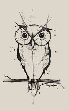 Owl ink on Behance