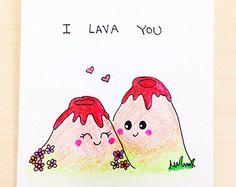 Cute love card anniversary card funny love card by LoveNCreativity