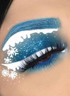 56 Fabulous Eye Christmas Makeup Ideas To Makes You Look Stunning #CoconutOilEyebrows Dramatic Eye Makeup, Eye Makeup Art, Colorful Eye Makeup, Eye Makeup Tips, Smokey Eye Makeup, Makeup Ideas, Makeup Box, Makeup Tutorials, Makeup Glowy