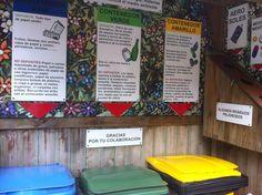 Espacio de clasificación de residuos en Casas Rurales Pradina.