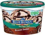 Fat Free No Sugar Added Ice Cream Brownie Sundae - 3 Smart Points