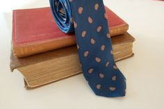 Mens Vintage Skinny Suit Tie by Tina Castelli by CountingTeacups