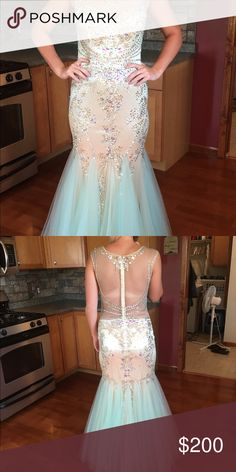 Prom dress by Fabuluxe size large. Fits like 8/10 Sequined prom gown Fabuluxe Dresses Prom