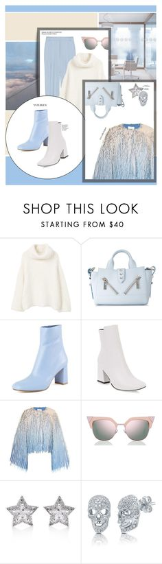 """""""#PolyPresents: Wish List"""" by zeljkaa ❤ liked on Polyvore featuring MANGO, Kenzo, Marco de Vincenzo, Fendi, CZ by Kenneth Jay Lane, BERRICLE, Whiteley, contestentry and polyPresents"""