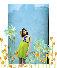 "nikymblr: "" Illustration for Kiko Mizuhara & Grimes NYLON JAPAN Anniversary issue "" Kiko Mizuhara Style, Rookie Magazine, Mazzy Star, Photoshoot Concept, Photography Illustration, Photography Editing, New Wall, Oeuvre D'art, Collage Art"