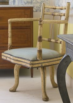 A Regency white-and gold-painted swiveling armchair circa 1810 | Lot | Sotheby's
