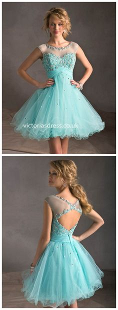 A-line Bateau Tulle Cocktail Dress, only £69.99!