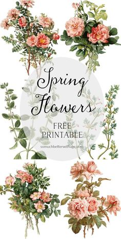 Spring Flowers on Silver Platters - Free printable & tutorial - So Much Better With Age #springprintable #printable #somuchbetterwithage