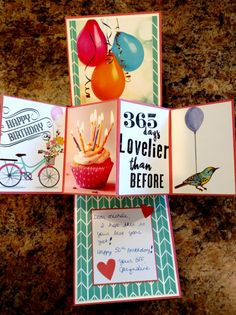 Twisted Pop-up Birthday Michele inside by jacqueline - Cards and Paper Crafts at Splitcoaststampers