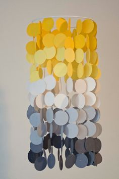 Yellow and Gray Ombre Crib Mobile
