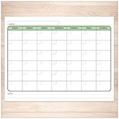 ConnieS File Cabinet Monthly Blank Calendar Pages For A Year