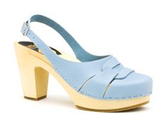 Pastel shoes for spring  Baby blue Hasbeens