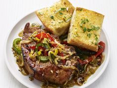 Onion-and-Pepper Pork Chops recipe from Food Network Kitchen via Food Network