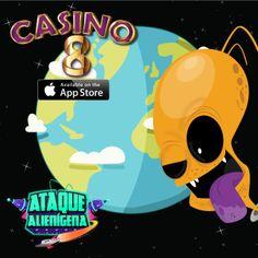 """Conoce la """"Ataque Alienígena"""" nuestra máquina #1 en la mejor App estilo #LasVegas. #Casino8. Búscala en el #AppStore"""