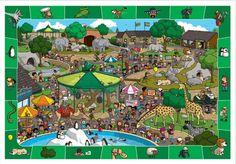 Busca y encuentra en este Zoo todas las imágenes impresas en el borde