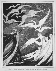 The Wild Swans -- Jennie Harbour -- Fairytale Illustration