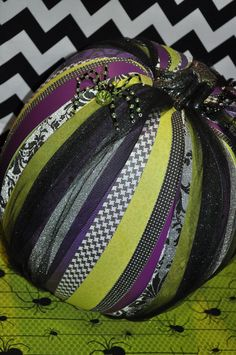 DCWV Diary: CHA Summer 2012 Booth Photos another pumpkin idea  paper strips and beads